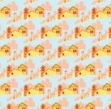 Teste padrão de casas pequenas Imagens de Stock Royalty Free