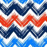Teste padrão de Chevron pintado à mão com pinceladas Fotografia de Stock Royalty Free
