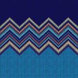 Teste padrão de confecção de malhas sem emenda do Natal com ornamento da onda Imagens de Stock Royalty Free