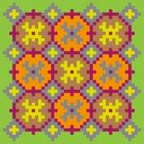 Teste padrão de costura brilhante em uma luz - fundo verde Fotografia de Stock Royalty Free