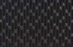 Teste padrão de costura preto com matérias têxteis fotos de stock