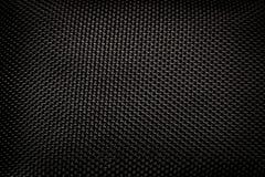 Teste padrão de costura preto de Kevlar Fotografia de Stock