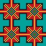 Teste padrão de costura sem emenda brilhante em um fundo azul esverdeado Fotos de Stock