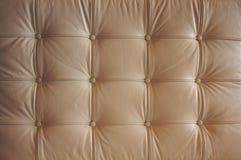 Teste padrão de couro abotoado confortável Imagem de Stock