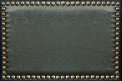 Teste padrão de couro com botões, textura para o fundo Foto de Stock Royalty Free