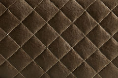 Teste padrão de couro de Brown Fotografia de Stock Royalty Free