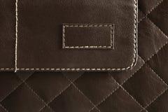 Teste padrão de couro de Brown Fotos de Stock