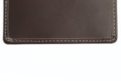 Teste padrão de couro de Brown com pontos da linha fotos de stock