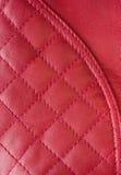 Teste padrão de couro vermelho Fotos de Stock Royalty Free