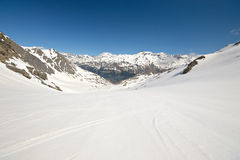 Teste padrão de derretimento da neve da alta altitude Imagem de Stock