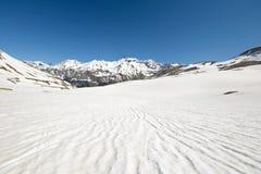 Teste padrão de derretimento da neve da alta altitude Foto de Stock