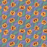 Teste padrão de Dia das Bruxas da abóbora Vector a ilustração das cabeças da abóbora no formulário diferente com várias emoções e ilustração do vetor