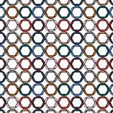 Teste padrão de diafragmas bonitos, coloridos, brilhantes, redondos, círculos pintados nas cores as mais elegantes de 2018 em uma ilustração do vetor