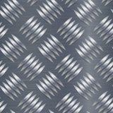 Teste padrão de Diamond Metal Plate Seamless Vetora Folha de alumínio ondulada Fundo sem emenda do metal Ilustração do vetor Imagens de Stock