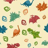 Teste padrão de Dino Baby Imagem de Stock Royalty Free