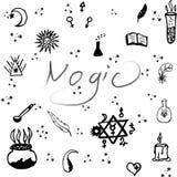Teste padrão de elementos decorativos do estilo de Boho Ilustração do vetor ilustração royalty free