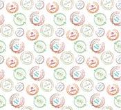 Teste padrão de elementos do design floral Fotos de Stock Royalty Free