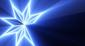 Teste padrão de estrela azul Imagens de Stock