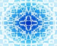 Teste padrão de estrela azul e branco Fotografia de Stock Royalty Free