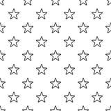 Teste padrão de estrela celestial, estilo simples ilustração royalty free