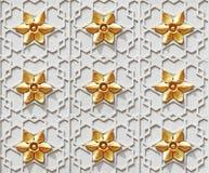 Teste padrão de estrela islâmico. Fotografia de Stock Royalty Free