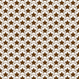 Teste padrão de estrela, marrom sem emenda do sumário do projeto da ilustração do vetor do fundo do vetor Fotografia de Stock Royalty Free
