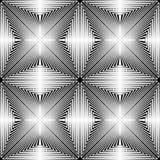 Teste padrão de estrela sem emenda CCB preto e branco do papel de Wrappimg do vetor Fotos de Stock