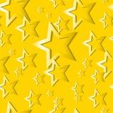Teste padrão de estrela sem emenda do ouro Imagem de Stock Royalty Free