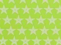 Teste padrão de estrela verde Fotos de Stock