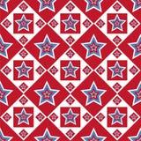 Teste padrão de estrelas colorido americano Fotografia de Stock Royalty Free