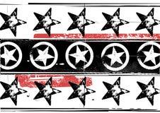 Teste padrão de estrelas de Grunge ilustração do vetor