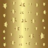 Teste padrão de estrelas do ouro, fundo dourado do estilo Fotografia de Stock Royalty Free