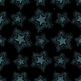 Teste padrão de estrelas, fundo sem emenda do vetor ilustração royalty free