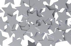 Teste padrão de estrelas de prata Imagem de Stock