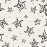 Teste padrão de estrelas sem emenda do vetor Fotos de Stock