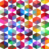 Teste padrão de fôrmas geométricas Fundo geométrico bobina Foto de Stock Royalty Free