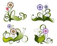 Teste padrão de flor. Fotos de Stock