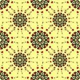 Teste padrão de flor abstrato sem emenda Ornamento redondos Foto de Stock Royalty Free