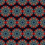 Teste padrão de flor abstrato sem emenda Ornamento redondos Fotografia de Stock Royalty Free