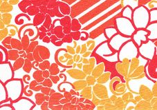 Teste padrão de flor alaranjado. Imagens de Stock Royalty Free