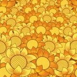 Teste padrão de flor alaranjado/amarelo ilustração do vetor