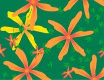 Teste padrão de flor amarelo da estrela ilustração stock