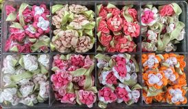 Teste padrão de flor artificial Fotos de Stock