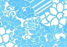 Teste padrão de flor azul. Fotos de Stock Royalty Free