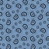 Teste padrão de flor azul do vintage romântico Foto de Stock