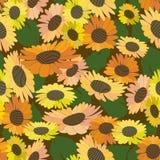 Teste padrão de flor brilhante Imagem de Stock