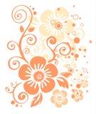 Teste padrão de flor cor-de-rosa