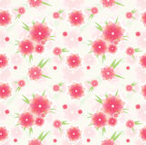 Teste padrão de flor cor-de-rosa sem emenda Fotos de Stock