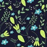 Teste padrão de flor da garatuja Imagens de Stock Royalty Free