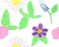 Teste padrão de flor da menina Imagens de Stock